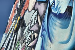 布赖顿街道画 免版税库存图片
