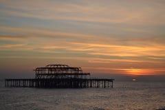 布赖顿西部码头 库存图片