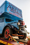 布赖顿,东部SUSSEX/UK - 11月1日:在足迹的撤除卡车 图库摄影