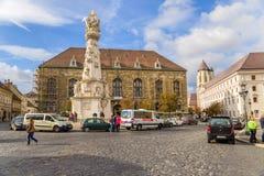 """布达佩斯。玛丽亚专栏或""""瘟疫纪念碑"""" 3 免版税库存图片"""