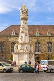 """布达佩斯。玛丽亚专栏或""""瘟疫纪念碑"""" 4 免版税图库摄影"""