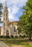 布达佩斯。马赛厄斯教会 库存照片