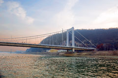 布达佩斯伊丽莎白桥梁 库存照片