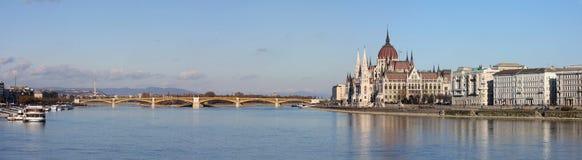 布达佩斯全景视图 免版税库存图片