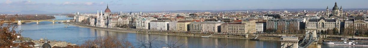 布达佩斯全景视图 免版税库存照片