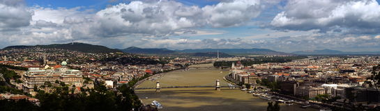 布达佩斯全景 库存图片