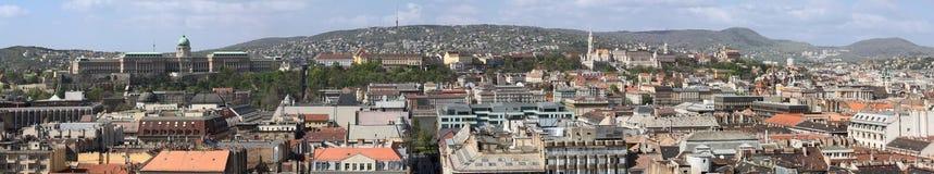 布达佩斯全景 免版税库存照片