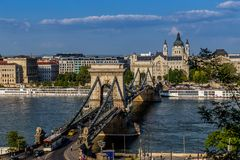 布达佩斯匈牙利全景 库存图片