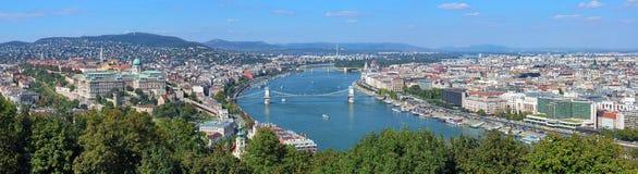 布达佩斯匈牙利全景 免版税库存照片
