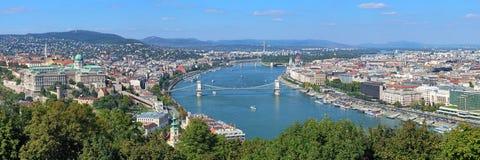 布达佩斯匈牙利全景 免版税库存图片