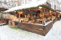 布达佩斯匈牙利雪,食物 免版税图库摄影