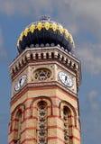 布达佩斯合唱圆顶门面片段犹太教堂 库存照片