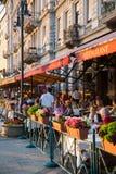 布达佩斯咖啡馆 图库摄影
