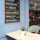 布达佩斯咖啡馆 库存照片