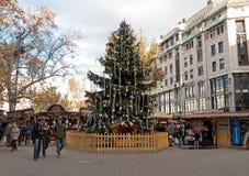 布达佩斯圣诞节市场 库存照片