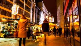 布达佩斯圣诞节市场 库存图片