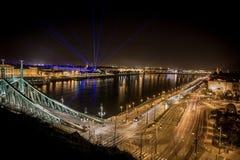布达佩斯在夜之前 库存图片