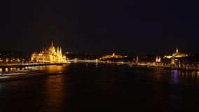 布达佩斯在夜10之前 免版税库存图片