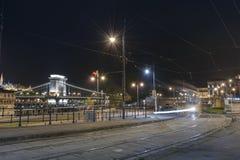 布达佩斯在晚上,匈牙利 免版税库存照片