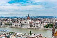 布达佩斯地平线 图库摄影