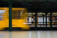 布达佩斯地铁 图库摄影