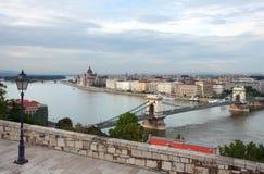 布达佩斯场面 免版税库存图片