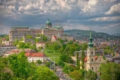 布达佩斯城堡小山 库存照片