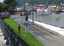 布达佩斯多瑙河洪水 库存图片