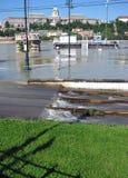 布达佩斯多瑙河洪水 免版税库存图片