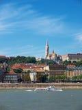 布达佩斯多瑙河视图 库存图片