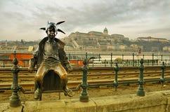 布达佩斯多瑙河风景 库存图片