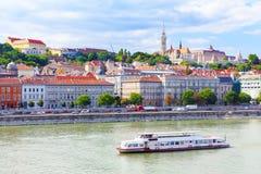 布达佩斯多瑙河 在Buda的看法 免版税库存图片