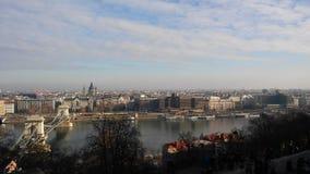 布达佩斯多瑙河 库存图片