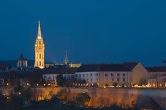 布达佩斯夜场面 库存图片