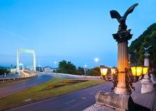 布达佩斯夜间视图 免版税库存照片