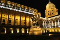 布达佩斯夜间 库存照片