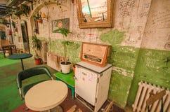 布达佩斯废墟客栈  库存照片