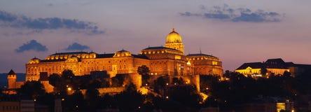 布达佩斯晚上视图 库存图片