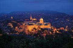 布达佩斯晚上 库存图片