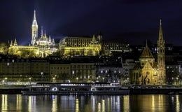 布达佩斯晚上 免版税库存照片