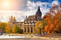 布达佩斯有历史的宫殿 库存图片