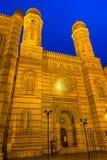 布达佩斯极大的匈牙利犹太教堂 免版税图库摄影