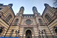 布达佩斯极大的匈牙利犹太教堂 免版税库存照片