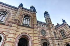 布达佩斯极大的匈牙利犹太教堂 库存照片