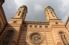 布达佩斯极大的犹太教堂 库存图片