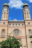 布达佩斯极大的犹太教堂 库存照片