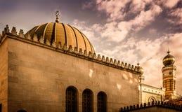 布达佩斯极大的犹太教堂 图库摄影