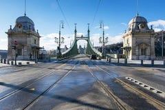 布达佩斯桥梁 免版税库存图片