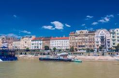 布达佩斯海岸线 库存图片