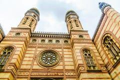 布达佩斯犹太教堂在匈牙利 免版税库存照片